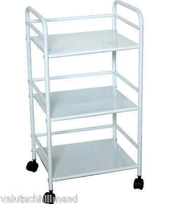Castleton Home Serving Trolley WHITE  74cm H x 38cm W x 32cm D
