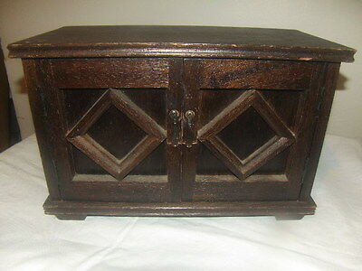 Large Vintage Rustic Music Wooden Hand-Made Jewelry Box