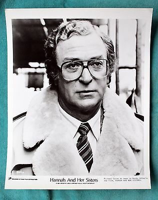 Original 1985 Movie Still Photo Michael Caine - Hannah And Her Sisters 10X8