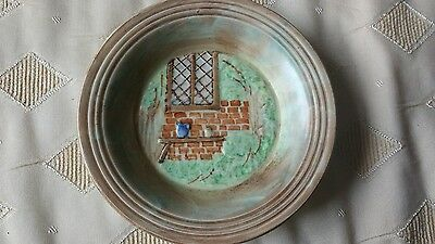 Art Deco H J Wood Burslem Hand Painted Pottery Wall Plate
