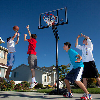 """Solid Strong Portable Basketball Hoop Stand Outdoor Games 48"""" Adjustable Height"""