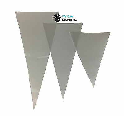 100x  Small Medium Large Clear Coloured Cellophane Cone Bags Sweert Bags