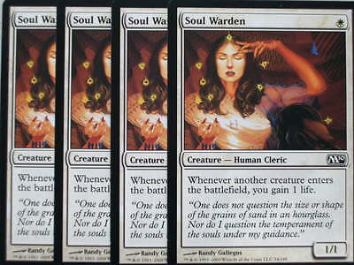 XXX 4x SOUL WARDEN englisch magic 2010 M10 (human cleric lifegain white) NM XXX