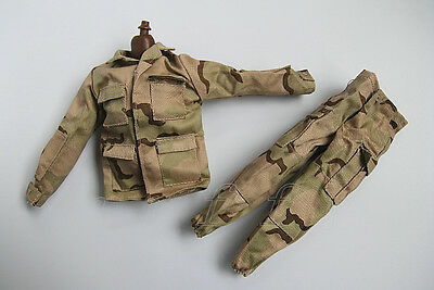 1/6 Scale Uniforms Coveralls Suit Desert camo fit for Hot B005 Body