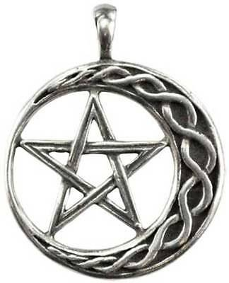 NEW Wicca Stability Pentagram Moon Amulet Pendant