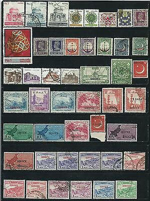 Pakistan - 46 mixed stamps...Years 1947 to 1986...including B.O.B.