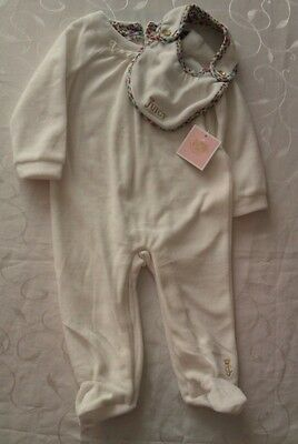 Juicy Couture Baby Girl's Velour Babygrow and Bib (6-9Months)