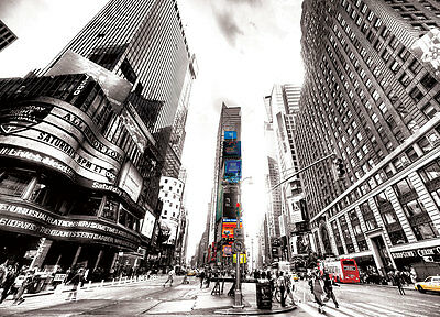 New York Times Square Wallpaper Mural Sticker 124x915