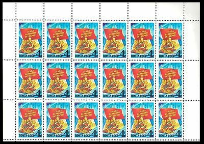 Soviet Union 1983 66th Annv. October Revolution.4 k n° 5323 x 18 Stamps MINT