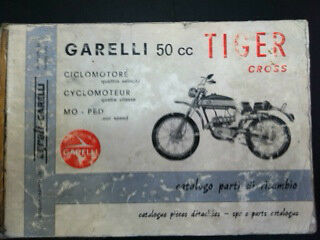 Garelli Tiger Cross 50 Cc. Catalogo Parti Di Ricambio Spare Parts