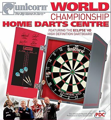 Unicorn World Championship Home Darts Centre Eclipse HD Dartboard - Black