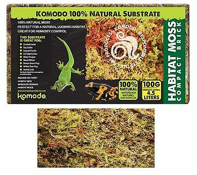 Komodo 100G Compact Brick 100% Natural Moss Humidity Vivarium Substrate 83030