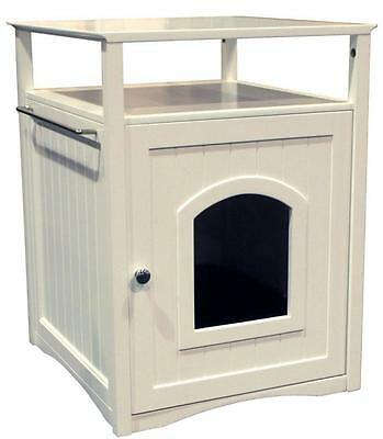 Merry Pet Products Cat Washroom And Night Stand White New in Box MPS006