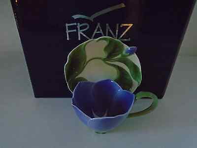 Franz Periwinkle Cup & Saucer In Box