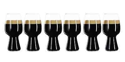 New Spiegelau Craft Stout Beer Glass Set Of 6 Glasses Glassware Crystal Clear