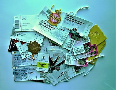 HORSE RACING MEMORABILIA - Collection Of Eighty (80) Tickets and Members Badges