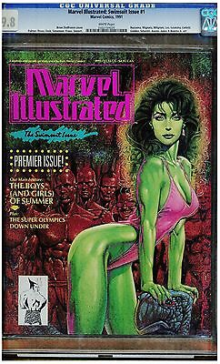 Marvel Illustrated Swimsuit Issue #1 Cgc 9.8 1991 She-Hulk Cover White Pages