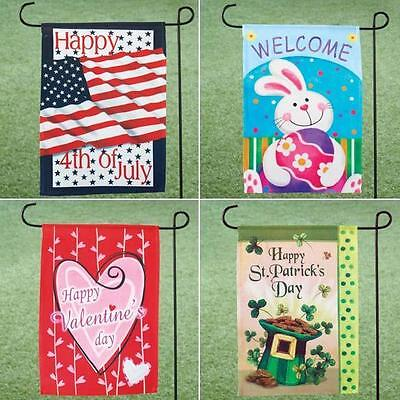 Easter, St. Patrick's Day, Valentine's Day, & 4th of July Garden Flag Set