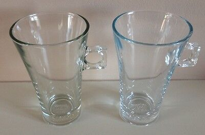 2 X Dolce Gusto Coffee Glasses Cups 13x8cm