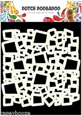 A5 Dutch Doobadoo Mask - Squares - Stencil - Embossing - 503 - New Out