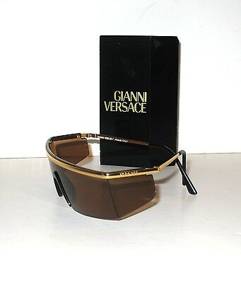 Gianni Versace Real Vintage Amber Sunglasses Occhiali da sole N90 Italy Mint