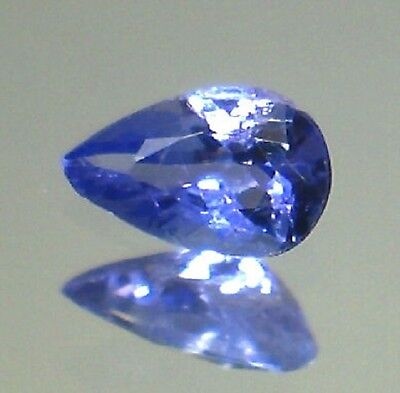 Extra Tanzanite Goccia  Naturale Intrattata  Block D  Ct.0,42  Vvs