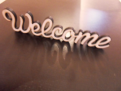 welcome sign wooden Standing word mdf 6 Mm Thick Decoration Blank