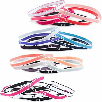 Ladies 2017 Under Armour Mini Headband Womens Sports Gym Accessories-Pack of 6