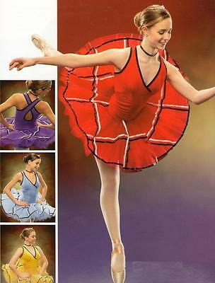 Lot of 6 ECLIPSE Ballet Dance Costumes CHILD 2-CS Blue,2-CS Red,1-CS, 1-CM Gold