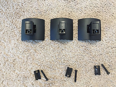 3 Genuine BOSE UB-20 Speaker Wall Mounts For Bose Dual Cube/Single Cube Speakers