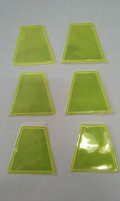 Lime/yellow (6Pkg) Trapezoids For Firefighter Helmet, Ect.