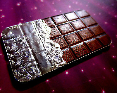 COOK ISLANDS 2014 $5 CHOCOLATE COIN WITH CHOCOLATE AROMA 20 gms SILVER .999