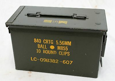 Ammo Can Cigar Humidor / Coin Holder / Ammo 12'' X 7'' X 6'' Seales Air Tight 7