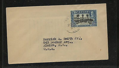 St  Lucia  99  on   cover to  US   1936                  SRS0730