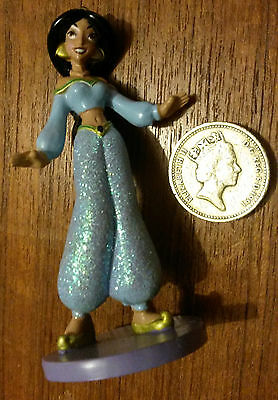 Disney Princess Jasmine Aladdin Sparkle Figurine Toy Doll Cake Topper Figure