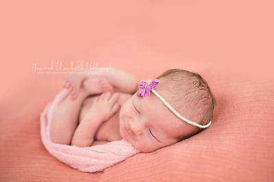 Baby Pink Newborn Knit Stretch Textured Rayon Wrap  Baby Photo Photography Prop