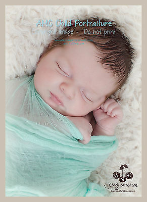 Hand Dyed Mint Green cheesecloth newborn baby wrap. Photography photo prop