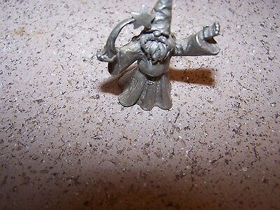 1 1/2 inch PEWTER WIZARD