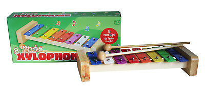 Tobar 8-Note Xylophone 26.5cm w/ 2 Mallets Wooden Mini Toy for Ages 24 Months+
