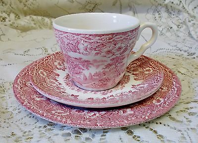 Pink Willow Trio Cup Saucer Plate English Ironstone Tableware Made In England