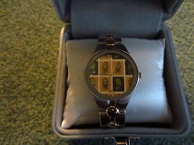 Simpsons Watch Gold  Homer With Tin    Rare