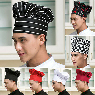 Cook Adjustable Men Kitchen Baker Chef Elastic Cap Hat Catering New Comfortable
