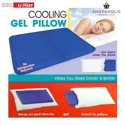 Cooling Gel Pillow Insert Sleep Cooler Mat Cool Pet Bed Sofa Pain Muscle Relief