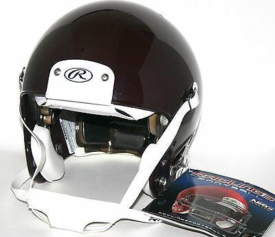 RAWLINGS Quantum Football Helmet Size - Youth Small Color - Maroon