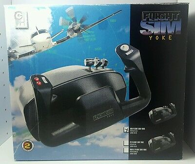 CH Products Flight Sim Yoke Usb For Pc & Mac NEW
