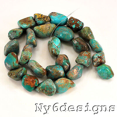"*12-20mm Natural Blue Hubei Turquoise Nugget Beads 15""(TU659)d"