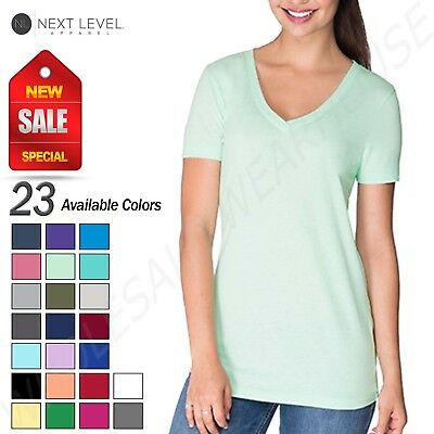 NEW Next Level Ladies Ideal V-Neck T-Shirt M-N1540
