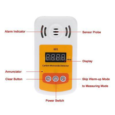 Portable Carbon Monoxide Gas Detector For Industries W/Sound & Light Alarm O8P8