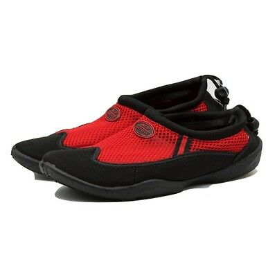 TruFit Women's Swimshoes Paneled Mesh Upper & Rubber Sole Red/Black Size 6