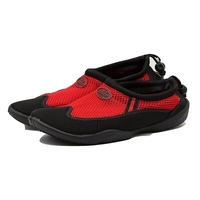 TruFit Men's Swimshoes Paneled Mesh Upper & Rubber Sole Black/Red Size 9